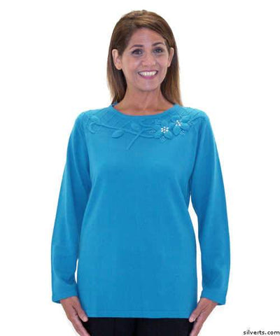 Adaptive Sweater Top For Ladies - Wheelchair Fashion For Disabled Adults - gloriiiluxe-adaptive