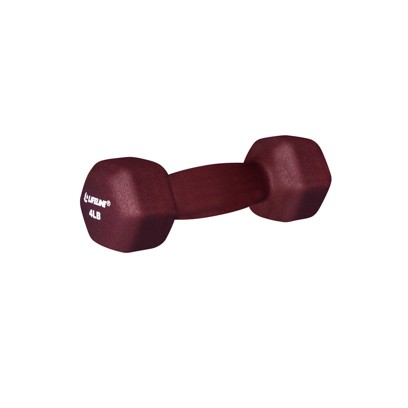 Lifeline Hex Neoprene Dumbbell - 4lb_4