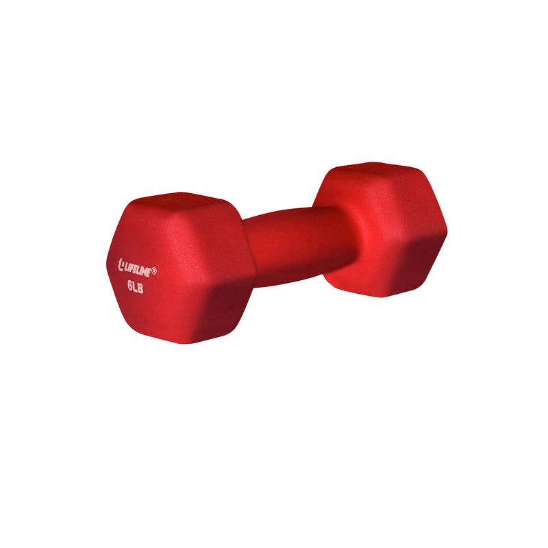 Lifeline Hex Neoprene Dumbbell - 6lb_1