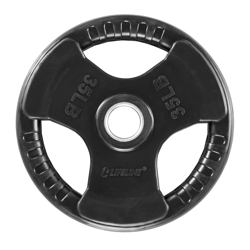 Lifeline Olympic Rubber Grip Plate - 35 LBS_7
