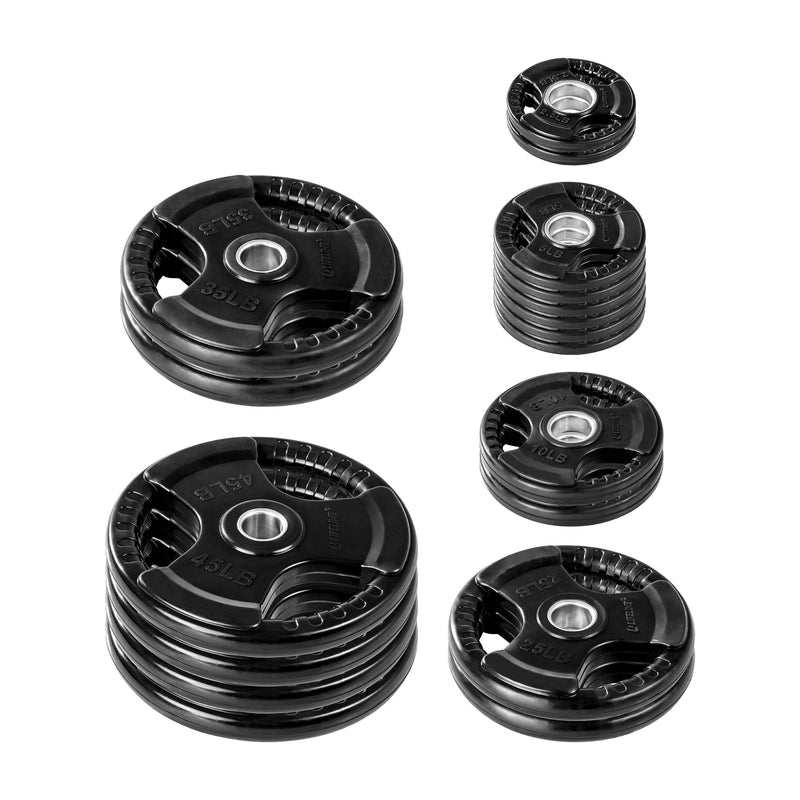 Lifeline Olympic Rubber Grip Plate Set - 355 LBS_1