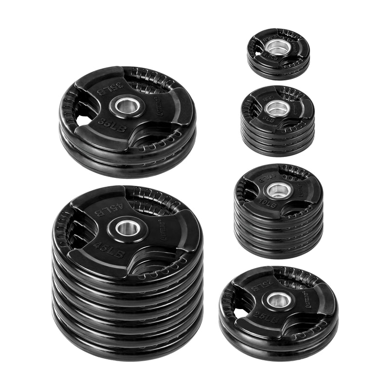 Lifeline Olympic Rubber Grip Plate Set - 455 LBS_1