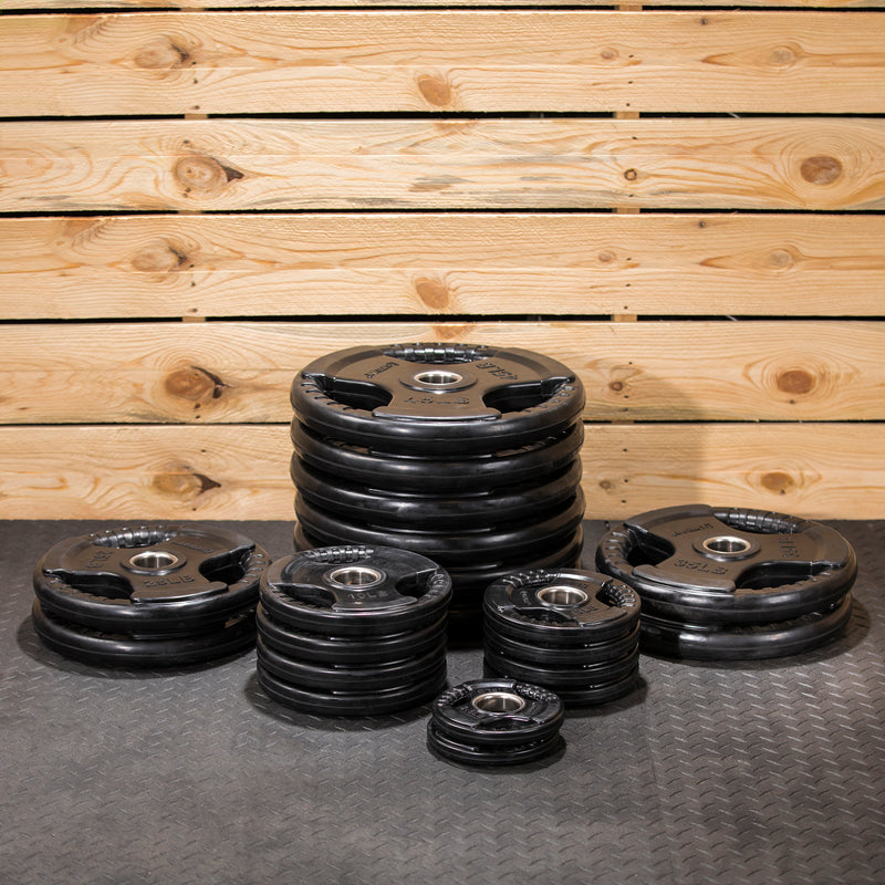 Lifeline Olympic Rubber Grip Plate Set - 455 LBS_7