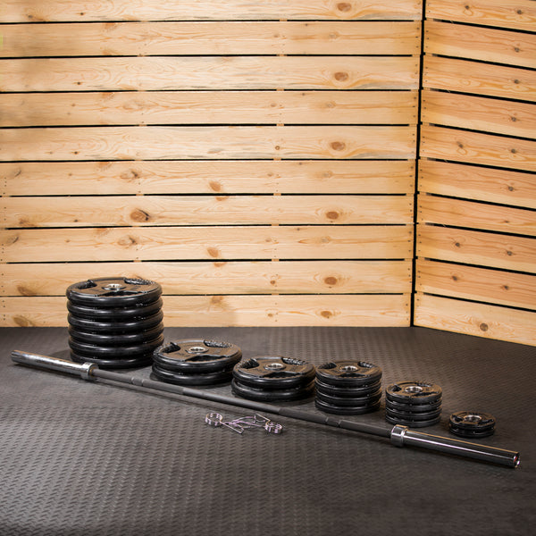 Lifeline Olympic Rubber Grip Plate Set - 500 LBS_7