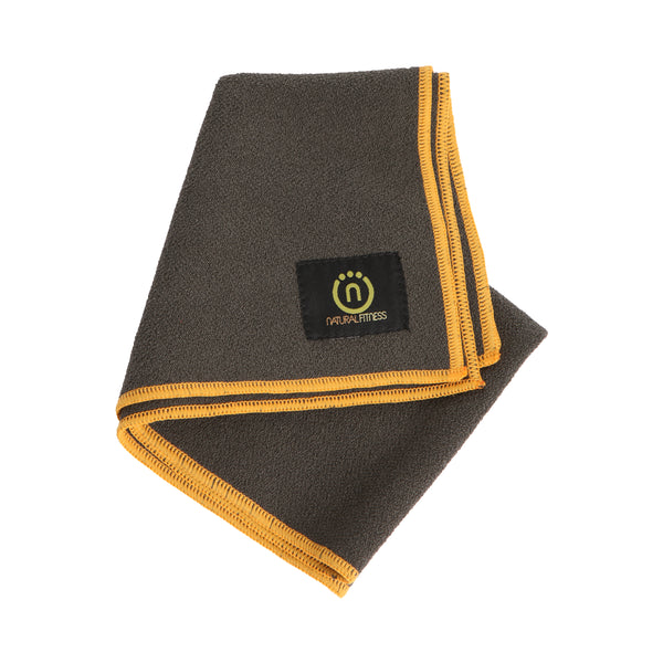 Natural Fitness Yoga Hand Towel-  Carbon/Sun_1