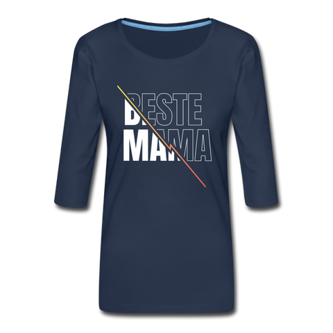 Beste Mama 3/4-Arm Shirt - Navy