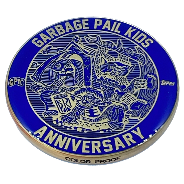 Blue Color Proof Coin 001 Topps Officially Licensed challenge coin Garbage Pail Kids GPK Nation
