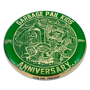 Green Color Proof Coin 001 Topps Officially Licensed challenge coin Garbage Pail Kids GPK Nation