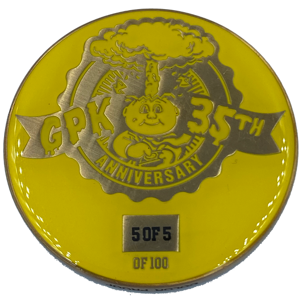 Yellow Color Proof Coin 003 Topps Officially Licensed challenge coin Garbage Pail Kids GPK Nation
