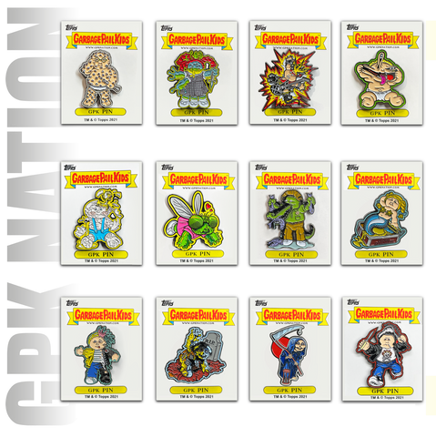 12 pin set Topps Officially Licensed GPK Pins 12 Garbage Pail Kids Limited Edition pins