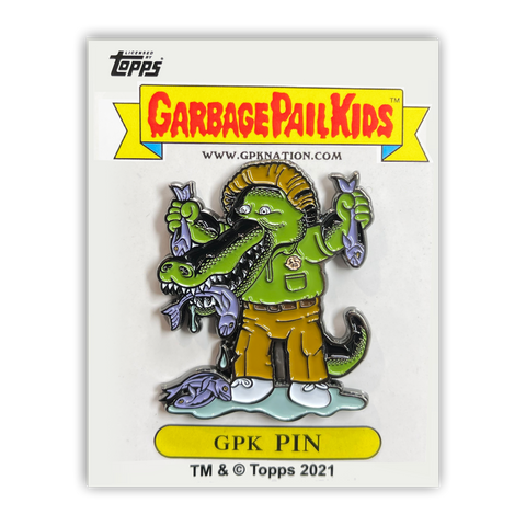 GPK-PP-007 Topps Officially Licensed GPK Ali Gator / Marshy Marshall Garbage Pail Kids Limited Edition pins