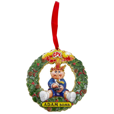 Adam Bomb Christmas Ornament Officially Licensed Topps Garbage Pail Kids GPK 35th Anniversary
