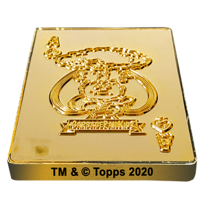 Adam Bomb 24KT Gold Plated GPK Challenge Coin Officially Licensed Topps Garbage Pail Kids Playing Cards Challenge Coin