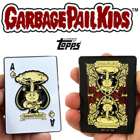 Adam Bomb GPK Challenge Coin Officially Licensed Topps Garbage Pail Kids Playing Cards Challenge Coin