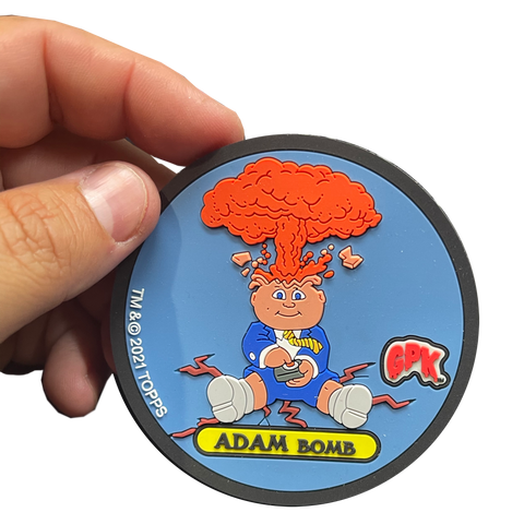 "ADAM BOMB Exclusive Topps Officially Licensed ""Glowster"" GPK Garbage Pail Kids Coaster"