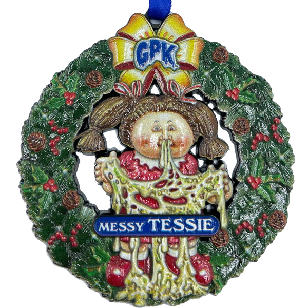 Blue Messy Tessie Hanukkah Decoration Officially Licensed Topps Garbage Pail Kids GPK 35th Anniversary