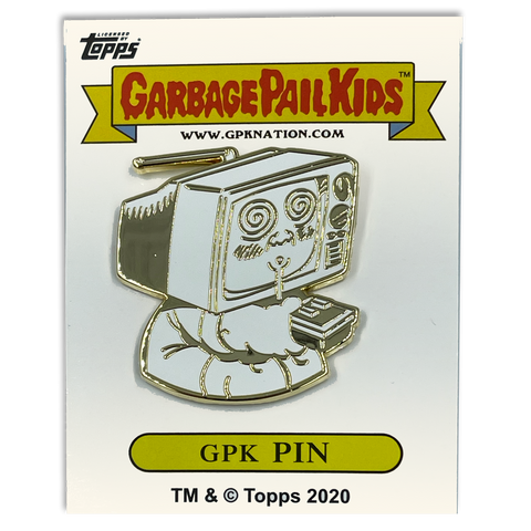 GPK-CC-005 TEE-VEE STEVIE / GEEKY GARY Topps Officially Licensed Brent Engstrom Artist Collaboration GPK Pin Garbage Pail Kids