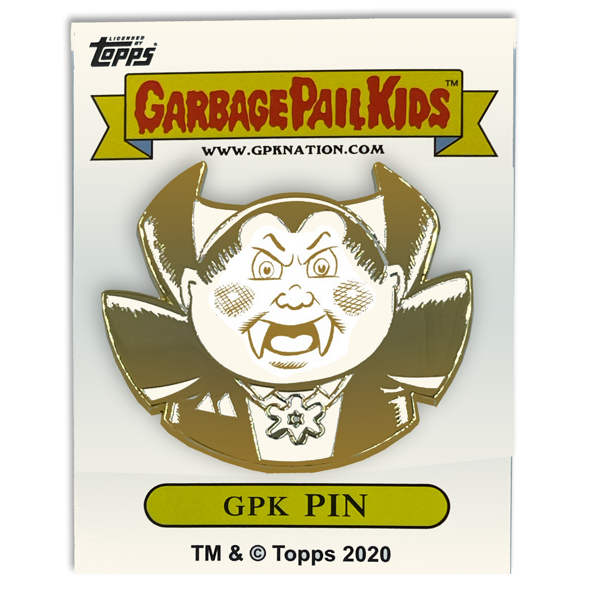 GPK-CC-008 Nasty Nick / Evil Eddie Topps Officially Licensed Brent Engstrom Artist Collaboration GPK Pin Garbage Pail Kids