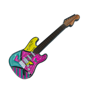 "Romero Britto ""South Beach Love"" Officially Authorized Guitar Pin"