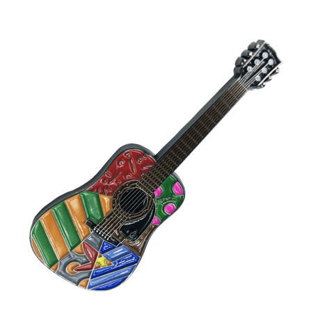 "Romero Britto ""Wynwood Romance"" Officially Authorized Guitar Pin"