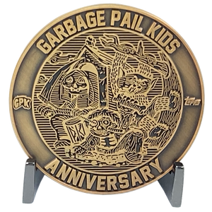Coin 001 Artist Proof with no enamel Topps Officially Licensed challenge coin Garbage Pail Kids GPK Nation