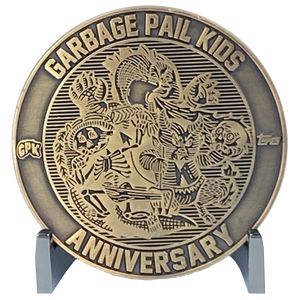 Coin 003 Artist Proof with no enamel Topps Officially Licensed challenge coin Garbage Pail Kids GPK Nation
