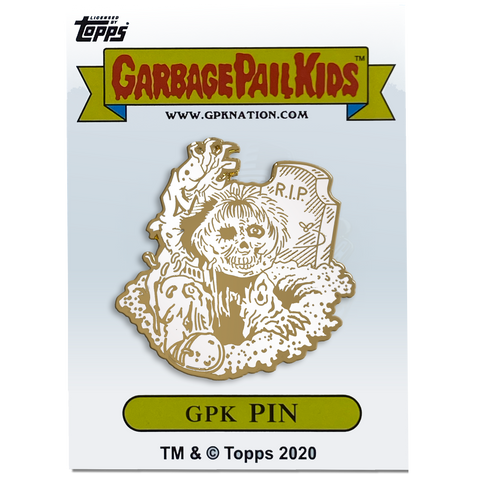 GPK-BB-006 JAY DECAY / DEAD TED Topps Officially Licensed Neil Camera Artist Collaboration GPK Pin Garbage Pail Kids