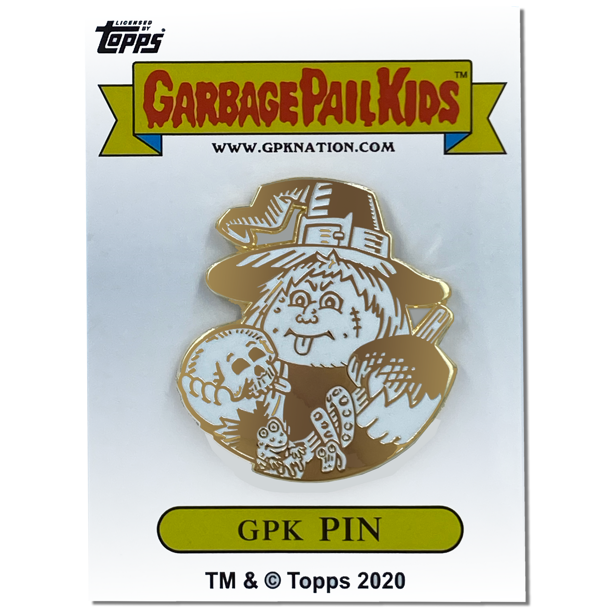 GPK-AA-007 WEIRD WENDY / HAGGY MAGGIE Topps Officially Licensed David Gross Artist Collaboration GPK Pin Garbage Pail Kids