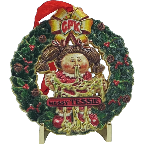 Messy Tessie Christmas Ornament Officially Licensed Topps Garbage Pail Kids GPK 35th Anniversary