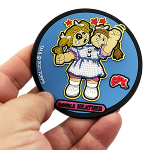 GPK-BB-010 Double Heather Exclusive Topps Officially Licensed GPK Garbage Pail Kids Coaster
