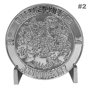Coin 002 GPK Nation Genuine Sterling Silver Plated Challenge Coin Garbage Pail Kids