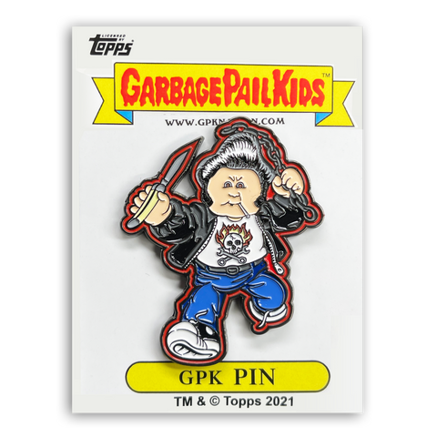 GPK-PP-012 Topps Officially Licensed GPK Greaser Greg / Chris Hiss Garbage Pail Kids Limited Edition pins