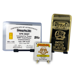 GPK Mint Gold Bar **INCREMENT 2** Officially Licensed by Topps 24KT Gold plated Garbage Pail Kids