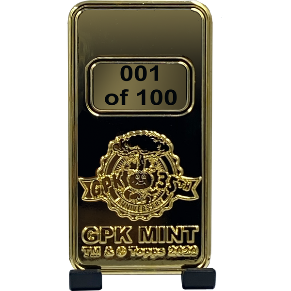 GPK Mint Gold Bar **INCREMENT 1** Officially Licensed by Topps 24KT Gold plated Garbage Pail Kids