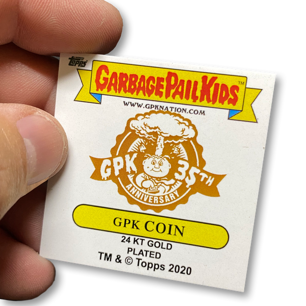 Mick Dagger 24KT Gold Plated GPK Challenge Coin Officially Licensed Topps Garbage Pail Kids Playing Cards Challenge Coin