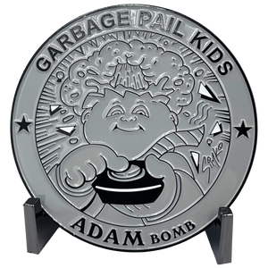 GPK-DD-007 Gray Variation 3 inch SIMKO Topps Officially Licensed Adam Bomb GPK Challenge Coin Garbage Pail Kids