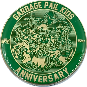 Green Color Proof Coin 002 Topps Officially Licensed challenge coin Garbage Pail Kids GPK Nation