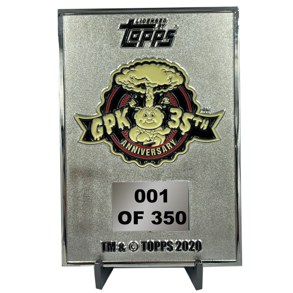 BLASTED BILLY 3D Full Color GPK OS1 Metal Card Garbage Pail Kids 35th Anniversary Officially Licensed Topps Medallion
