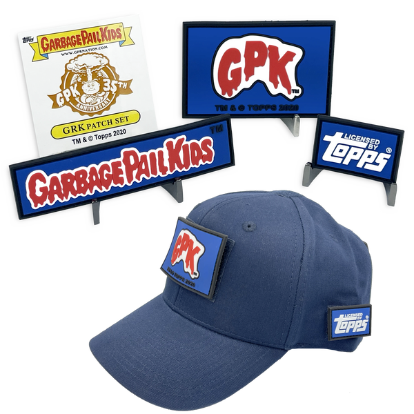 GPK-BB-009 3 Patch Set GPK Officially Licensed Topps GLOW-IN-THE-DARK Garbage Pail Kids Patch set with FREE HAT ***GPK NATION RALLY CAP***