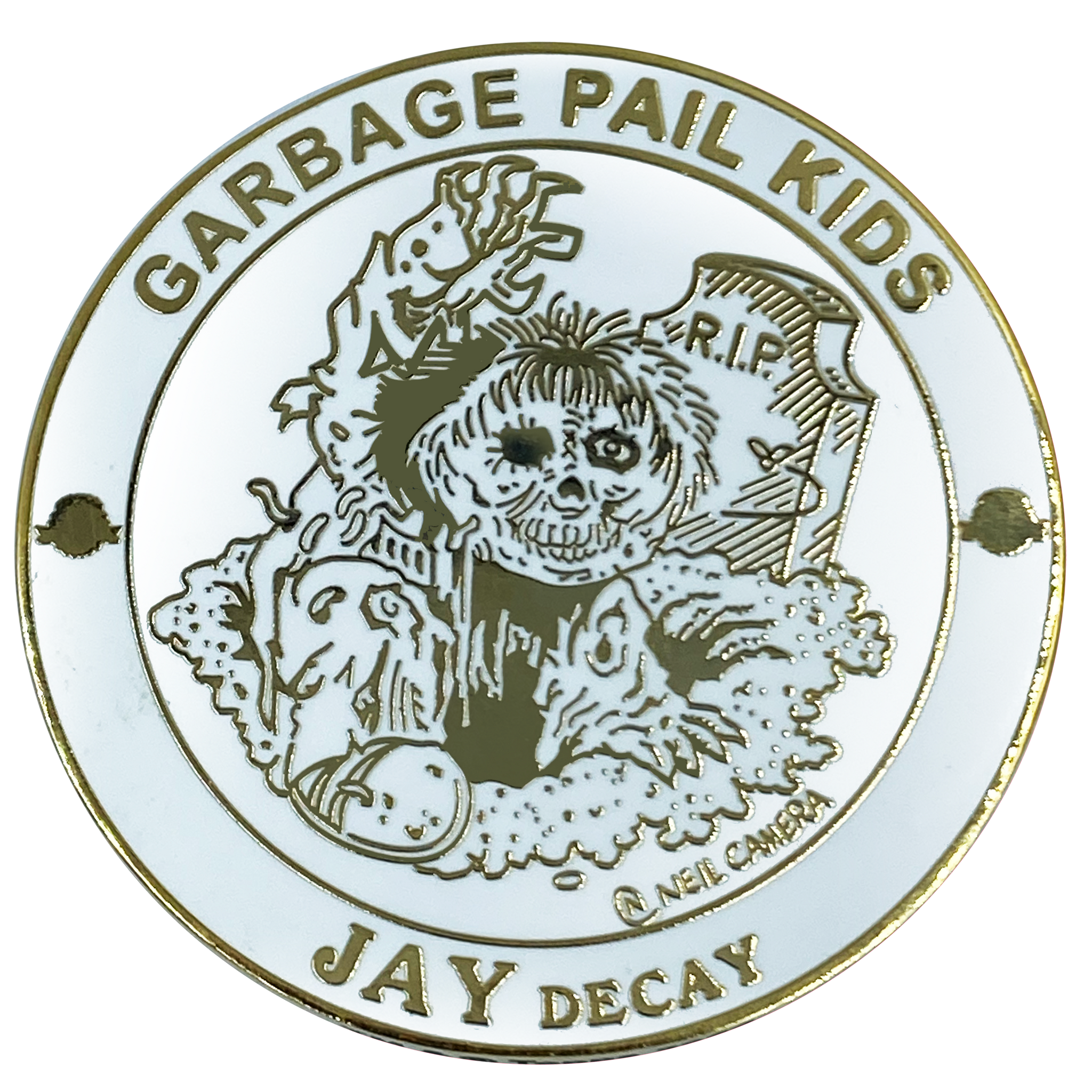 GPK-BB-005 JAY DECAY Topps Officially Licensed Neil Camera Artist Collaboration GPK Challenge Coin Garbage Pail Kids