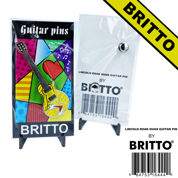"Romero Britto ""Lincoln Road Hugs"" Officially Authorized Guitar Pin"