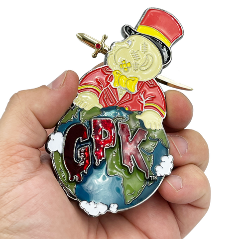 MICK DAGGER Coin Medallion with removable sword Officially Licensed by Topps GPK Garbage Pail Kids