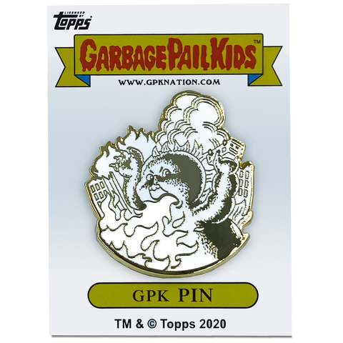 GPK-BB-007 FRYIN' RYAN / CHARRED CHAD Topps Officially Licensed Neil Camera Artist Collaboration GPK Pin Garbage Pail Kids