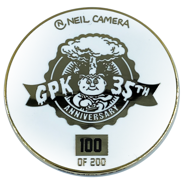 GPK-BB-004 DEAD TED Topps Officially Licensed Neil Camera Artist Collaboration GPK Challenge Coin Garbage Pail Kids