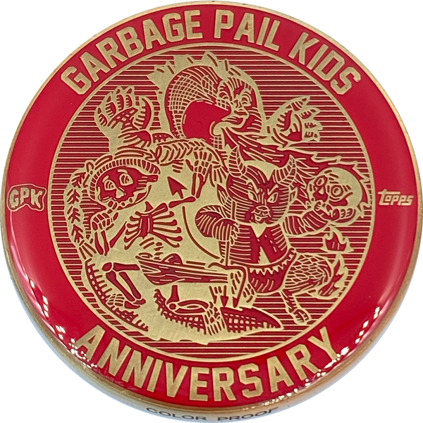 Red Color Proof Coin 003 Topps Officially Licensed challenge coin Garbage Pail Kids GPK Nation