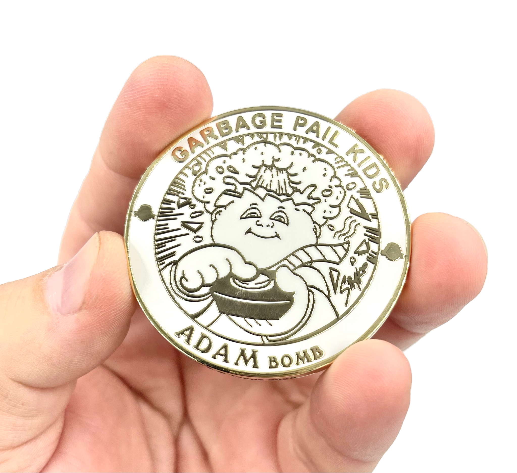 ADAM BOMB Challenge Coin Officially Licensed GPK by Topps Artist SIMKO artist collab collection Garbage Pail Kids