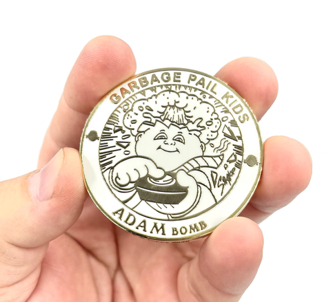 GPK-FL-01-G ADAM BOMB Challenge Coin Officially Licensed GPK by Topps Artist SIMKO artist collab collection Garbage Pail Kids