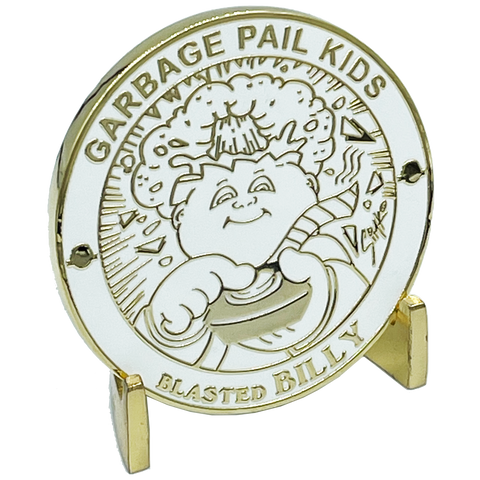 GPK-FL-01-H BLASTED BILLY Challenge Coin Officially Licensed GPK by Topps Artist SIMKO artist collab collection Garbage Pail Kids