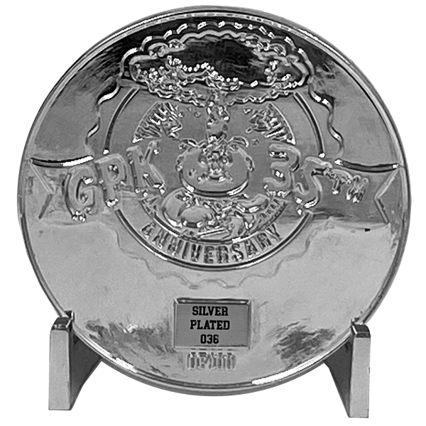 BUNDLE PACK Coin 003: 1 each Artist Proof, Silver Plated, Nickel Plated White Cloisonné Topps Officially Licensed challenge coin Garbage Pail Kids GPK Nation