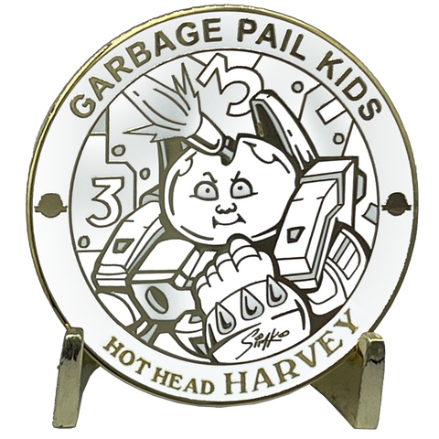 GPK-FL-01-D Hot Head Harvey Topps Officially Licensed Joe SIMKO Artist Collaboration GPK Challenge Coin Garbage Pail Kids